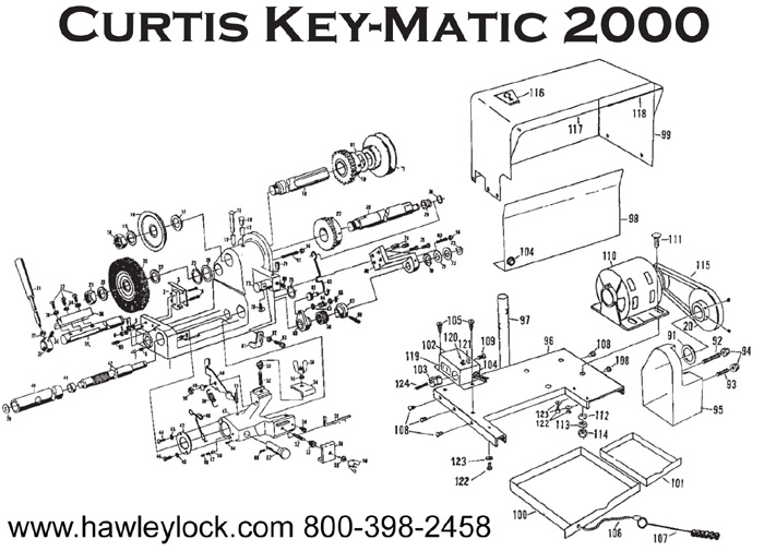 curtis 3100 key machine