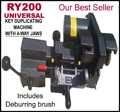 Hawley Lock Supply Rytan Ry200 Semi Automatic Duplicator 110v